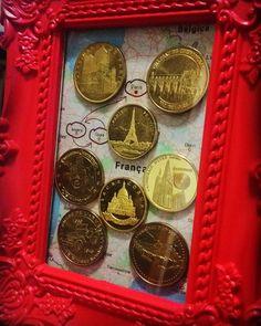 Quadro Viagem França #moedasfrancesas