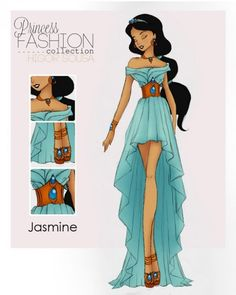 Get a Glimpse of These High Fashion Disney Princesses - I would LOVE this dress in real life!