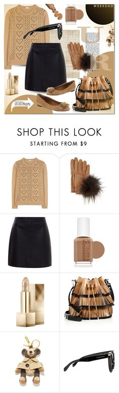 """Cute Trend: Granny Flats"" by elena-starling ❤ liked on Polyvore featuring Miu Miu, Inverni, Hallhuber, Essie, Burberry, Proenza Schouler, Alexander McQueen, women's clothing, women's fashion and women"