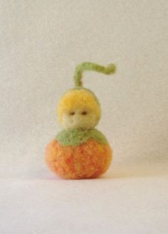 Needle Felted Pumpkin Child Waldorf Style by EarthyMamaGoods, $9.00