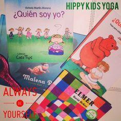 """Clase de Yoga """"¿Quién soy yo? ¿Cómo soy yo?"""". Con ejemplos, cuentos, espejos... y yoga, trabajamos y pensamos en como somos cada uno de nosotros, que podemos mejorar. Nos quitamos complejos, nos aceptamos, nos queremos, aprendemos que no todas las personas somos iguales, que lo bonito es creer en nosotros, ser nosotros mismos! www.hippykidsyoga.com"""
