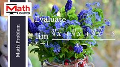 Learn how to solve the limit of algebraic function as x approaches 1 in limits calculus mathematics Limits Calculus, Math Problems, Problem And Solution, Mathematics, This Or That Questions, Learning, Math, Studying, Teaching