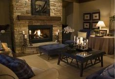 Love the fireplace in this room.