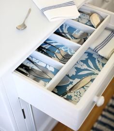 Everyone may not see it, but that doesn't mean a kitchen, bathroom, or office drawer doesn't deserve a pretty print.  - GoodHousekeeping.com