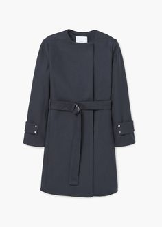 Belted wool coat | MANGO