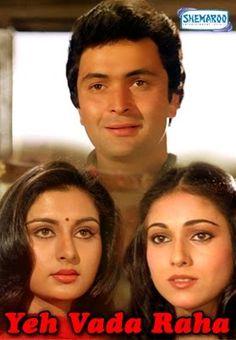 Yeh Vaada Raha Starring Shammi Kapoor, Poonam Dhillon, Tina Munim, Sarika Thakur, Raakhee and Rishi Kapoor. Poonam Dhillon, Shammi Kapoor, Bollywood Posters, Rishi Kapoor, Amitabh Bachchan, Cinema Posters, Hindi Movies, Celebs, Celebrities