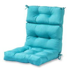 Greendale Home Fashions Teal High Back Patio Chair Cushion at Lowe's. The Greendale Home Fashions Three Section High Back Chair Cushion will add both style and comfort to your outdoor furniture. Each cushions measures 44 x Chair Cushions Walmart, Patio Furniture Cushions, Outdoor Lounge Chair Cushions, Patio Cushions, Patio Chairs, Outdoor Chairs, Indoor Outdoor, Outdoor Living, Outdoor Fabric