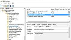 Windows Defender Scheduled Scan option in Schedule Tasks
