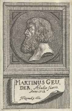 Johann Friedrich Leonard | Portretmedaillon van Martin Geuder, Johann Friedrich Leonard, 1668 | Portret van Martin Geuder, magistraat te Neurenberg, op 73-jarige leeftijd.