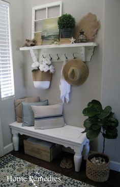 Summer Entryway Reveal Done On A Budget | Home Remedies