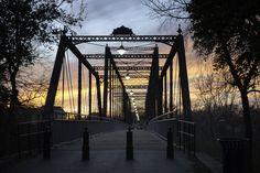 The Faust Street Bridge in New Braunfels, Texas.