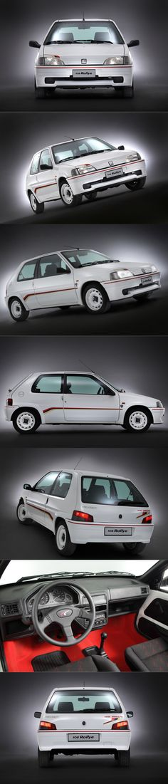 1993 Peugeot 106 Rallye / 1.3l 100hp L4 / 825kg / commemorate 106 Collect Cars followers / France / yellow red white / 17-355