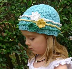 """Free pattern for """"Gipsy Girl Hat"""" by Deanne Ramsay...easy pattern and calculations for Baby to Adult sizing!"""