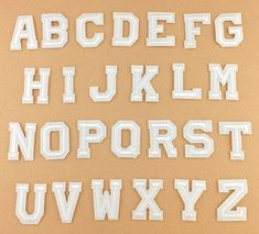 White-Alphabet-Letter-Patch-Embroidered-Sew-Iron-on-Badge-Patches-Applique-DIY