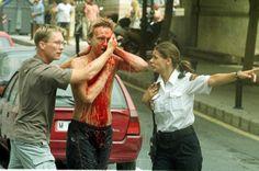 Aquí se ve la realidad de los atentados terroristas. Este imagen es de bombas en un hotel de Alicante en 2003