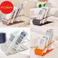housesweet Remote Control Storage Organiser Phone Wall-mounted Holder Media Organizer Box with Hook