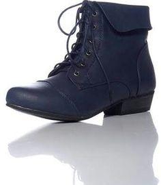 Navy granny boots