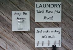 Laundry room decor. Lost sock wood sign. Keep the change wood sign. Laundry room sign. Custom wood sign. Laundry room sign. by Bridges2You on Etsy