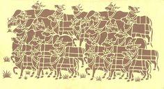 Sanjhi art: traditional art of hand cutting designs on paper, from Uttar Pradesh, India