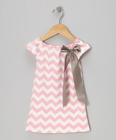 Pink Zigzag Bow Dress - Toddler & Girls by Heather Hill on #zulily