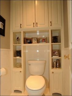 Tiny house bathroom storage