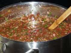 Many tomatoes into every jar for goodness and flavor. Canning Salsa, great how-to blog