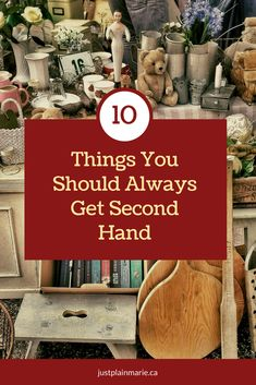 New things are nice to get, but sometimes you can save a lot of money and get just as good quality by buying used. #secondhand