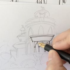 Illustration video. Drawing the Monserrate Palace in Portugal for a wedding project. Such a breathtaking Building. You can see more of the illustration on my YouTube... Palace, Portugal, Photo And Video, Drawings, Videos, Building, Illustration, Youtube, Projects