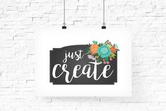 Inspirational Typography Quote Create   Printable Inspirational Typography Art   Instant Download   Room Decor   Home Decor   Office Decor - pinned by pin4etsy.com