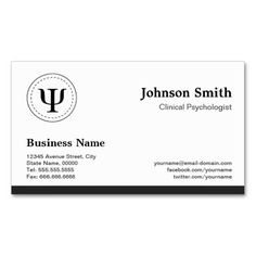 Clinical Psychologist - Psychology Appointment Business Cards. Make your own business card with this great design. All you need is to add your info to this template. Click the image to try it out!