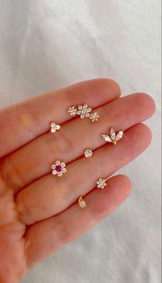 Dainty cartilage labret piercings made from solid 14k gold✨✨ Labret Piercing, Cartilage Piercings, Back Piercings, Labret Jewelry, Thin Hoop Earrings, Gold Pearl Ring, Pearl Shop, Minimal Jewelry, Jewelry Branding