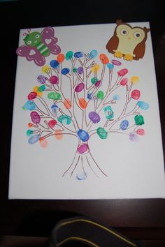 Create a memory at your baby shower. Have each guest use their thumb print to create a tree for baby!