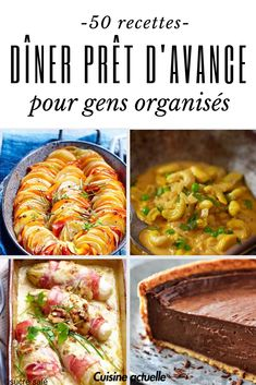 Our top recipes to prepare in advance - Dinner Recipes Diner Recipes, Top Recipes, Quick Recipes, Healthy Dinner Recipes, Healthy Snacks, Health Dinner, Batch Cooking, Chicken Recipes, Easy Meals