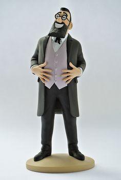 TINTIN FIGURINE NUMERO 43 COLLECTION disponible en France et en Belgique. Référence de la figurine: Le professeur Bergamotte Les 7 Boules de cristal, planche 28, case A1