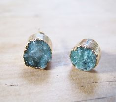 gorgeous druzy studs found on Celeste Twikler but site is no longer operational