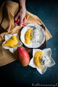 ryż kokosowy z mango Mango Sticky Rice, Curry, Breakfast, Food, Curries, Hoods, Meals