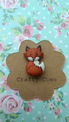 Fox badge - fantastic fox brooch  woodland Fox pin badge cute Fox Fox gift. Fox accessory uk 4 by TheCraftyCowShed on Etsy https://www.etsy.com/listing/230566954/fox-badge-fantastic-fox-brooch-woodland