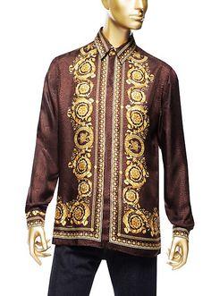Versace | Silk Barocco Men's Shirt | Shirts | Menswear | Men | Shop at us.versace.com - official Versace online shop