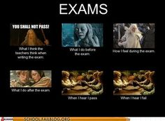 How hobbits feel about exams