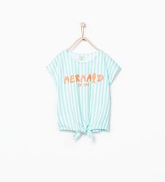 Striped mermaid T-shirt