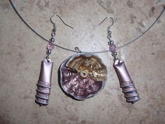 bijoux parure collier boucles d'oreilles capsule café nespresso recyclé orange : Parure par cococreative