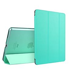 iPad Mini Case, iPad Mini 3 Case, ESR Yippee Colour Series iPad Mini Transparent Back Ultra Slim Light Weight Auto Wake Up/Sleep Smart Cover Tri-fold Protective PU Leather Case for iPad Mini 3/2/1 (Mint Green) ESR http://www.amazon.com/dp/B00FCD6TQY/ref=cm_sw_r_pi_dp_ZGy9vb1B5MBGC