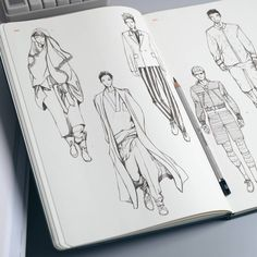 Details - Tailor-made for menswear designers - Aim for fast sketching and brainstorming - Mini fashion dictionary - 280 barely visible templates - Pocket in the back of the sketchbook Specs - Size: 19