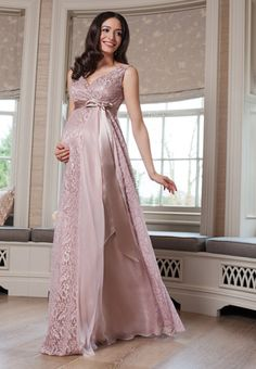 Thea Maternity Gown Long Blush - Maternity Wedding Dresses, Evening Wear and Party Clothes by Tiffany Rose UK Maternity Vintage Dresses, Maternity Gowns, Maternity Fashion, Maternity Wedding, Tiffany Rose, Dresses For Pregnant Women, Pregnant Wedding Dress, Beautiful Dresses, Nice Dresses