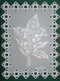 laurka pergaminowa dla majowej solenizantki. Parchment craft