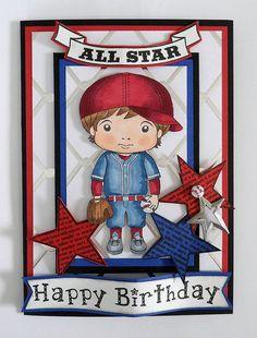 Boy Baseball Card Handmade