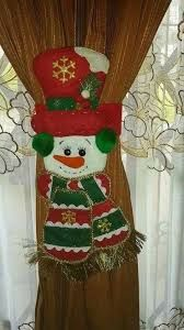 Resultado de imagen para agarracortinas de fieltro moldes Merry Christmas To You, Christmas Mom, Christmas Sewing, Christmas Projects, Felt Christmas Decorations, Christmas Stockings, Christmas Ornaments, Holiday Decor, Christmas Applique
