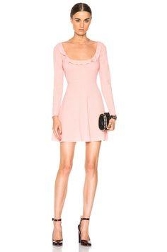 Sheer Yoke Mini Dress