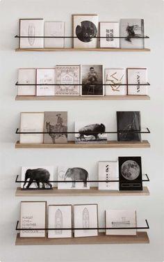 Metal and wood bookshelf