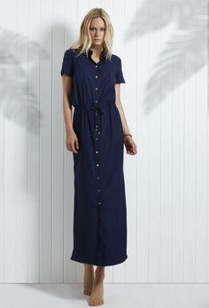 469bad64695a0 HEIDI KLEIN Hamptons Maxi Shirt Dress